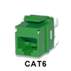 Signamax KJ458MT-C6C-GN CAT6 Keystone Jack Connector MT-Series Green
