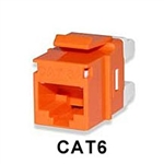 Signamax KJ458MT-C6C-OR CAT6 Keystone Jack Connector MT-Series Orange