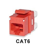 Signamax KJ458MT-C6C-RD CAT6 Keystone Jack Connector MT-Series Red