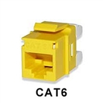 Signamax KJ458MT-C6C-YL CAT6 Keystone Jack Connector MT-Series Yellow