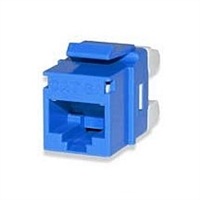 CAT5e Keystone Jacks Connectors Blue MT-Series High-Density T568A/B 25-pack | Signamax KJ458MT25-C5E-BU