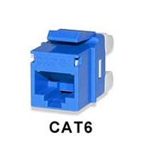 CAT6 Keystone Jacks Connectors Blue MT-Series High-Density T568A/B 25-pack | Signamax KJ458MT25-C6C-BU