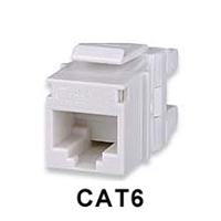 CAT6 Keystone Jacks Connectors White MT-Series High-Density T568A/B 25-pack | Signamax KJ458MT25-C6C-WH