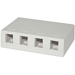 Signamax SMKL-4-WH Multimedia Box, 4-Port Surface Mount White