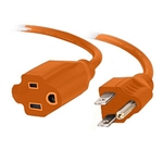 SR Components Extension Cord, Heavy Duty Outdoor/Indoor 14/3 AWG 25ft. Orange CX1425O