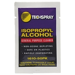 Techspray 1610-50PK Isopropyl Alcohol Wipe Packets