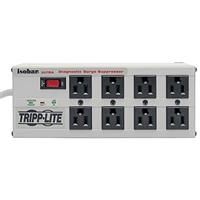 Tripp-Lite ISOBAR 8 ULTRA - 8 outlet, 12-ft cord, 3840 joule, All metal housing Isobar Surge Suppressor - Premium surge, spike and line noise protection