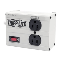 Tripp-Lite ISOBAR2-6 - 2-oultet, 6-ft cord, 1410 joule, All metal housing Isobar Surge Suppressor - Premium surge, spike and line noise protection