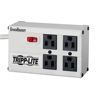 Tripp-Lite ISOBAR4 (IBAR4) - 4-outlets, 6-ft cord, 3330 joule, All metal housing - Isobar Surge Suppressor- Premium surge, spike and line noise protection