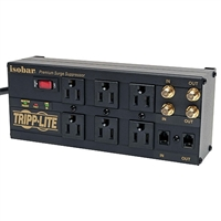 Tripp-Lite ISOBAR6DBS - 6 outlet, 6ft cord, 2850 joules, 2-line coaxial, 1-line tel/modem, All-metal housing - Isobar Home/Business/Theater Surge Suppressor