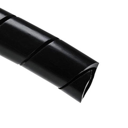 "HellermannTyton 3NFP0C Spiralwrap Protective Sheathing - 1/2"" Black - 100ft. Per Roll"