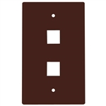 HellermannTyton FPDUAL-B Faceplate, 2 Port Standard Single Gang, ABS 94V-0, Brown
