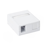 HellermannTyton SMBDUAL-W Surface Mount Box, 2 Port, White