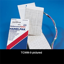 HellermannTyton TCWM2 Handi-Pak marker book with 10 markers each A-Z, 1-15,+,-,/