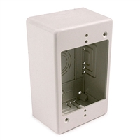 HellermannTyton TSRFW-JB2 Single Gang Deep Junction Box Office White
