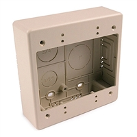 HellermannTyton TSRI-JBD Dual Gang Junction Box - Ivory