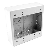 HellermannTyton TSRW-JBD Dual Gang Junction Box - White