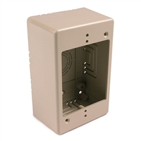 HellermannTyton TSRI-JB2 Single Gang Deep Junction Box Ivory