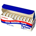 HellermannTyton WMT0-9 Marker Tape Refills 0-9 for WMTD0-9