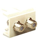 Unicom MS2-MF2-BG F Type Connector 2 Port Beige
