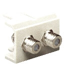 Unicom MS2-MF2-WT F Type Connector 2 Port White