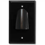 Vanco 120612X Bulk Cable Black Wall Plate