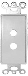Vanco 280302 Decor Style Wall Plate Insert, White, 2 Hole - 3/pkg