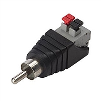 Velleman CV047 RCA male to 2 Position Spring Terminal Adapter