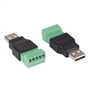 CV051 Velleman USB A male to 5 pin Screw Terminal 2/pkg