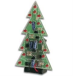 Velleman LED Christmas Tree Electronics Project Kit MK100