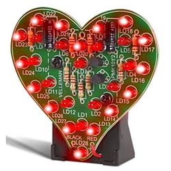 Velleman MK101 Flashing LED Sweetheart Electronics Project Kit