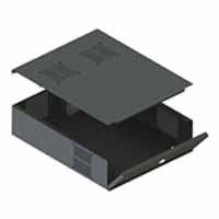 VMP DVR-LB3 Low Profile DVR / Storage Lockbox | Video Mount Products