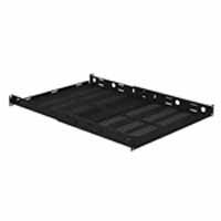 VMP ER-S1U4P Vented 1U Adjustable Four Post Rack Shelf | Video Mount Products