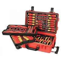 Wiha 32800 Insulated 80 Piece Tool Set in Rolling Tool Case