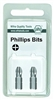 Wiha 71149 Screwdriver Bits, Phillips #0 X 25mm 2 Bits Per Pack