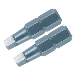 Wiha 71854 Screwdriver Bits, Square #1, 2, & 3 X 25mm 3/pkg