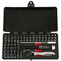 Wiha 75965 Screwdriver Bit Set, Precision Micro Bit Set, Master Tech 65 Piece ESD Safe