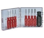 Xcelite PS-89V 9-Piece Compact Hex Socket Screwdriver Set - Inch Sizes