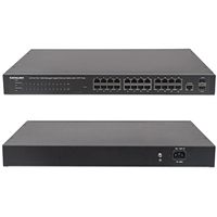Intellinet 560559 Switch, 24 Port Gigabit Ethernet PoE+ Web Managed with 2 SFP Ports