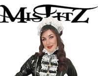 MISFITZ BLACK PVC MAIDS HAT