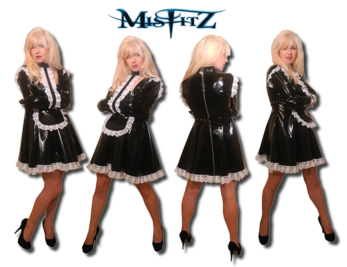 PVC STRAIGHT JACKET PADLOCK MAIDS