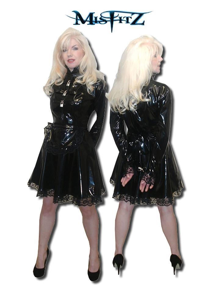 ALL BLACK PVC STRAIT JACKET MAID