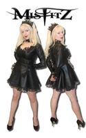 LEATHER LOOK DELUXE STRAIT JACKET FRENCH MAID