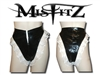 MISFITZ BLACK PVC FRILLY FRENCH MAIDS PANTIES