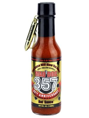 Mad Dog 357 Hot Sauce NEW Gold Collector's Edition w/ Bullet