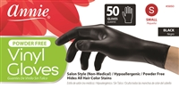 Annie Vinyl Gloves, 50Ct in Black
