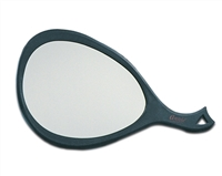 Teardrop mirror black