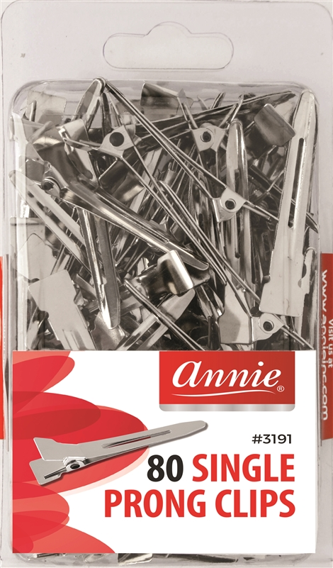 Annie Single Prong Clips, 80ct