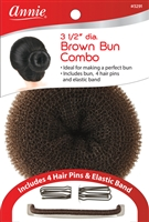 "Annie Hair Bun Combo 3.5"" Brown"