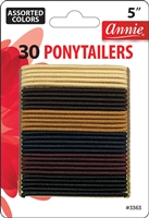 "Annie Ponytailers 5"", 30 ct, Asst Color"